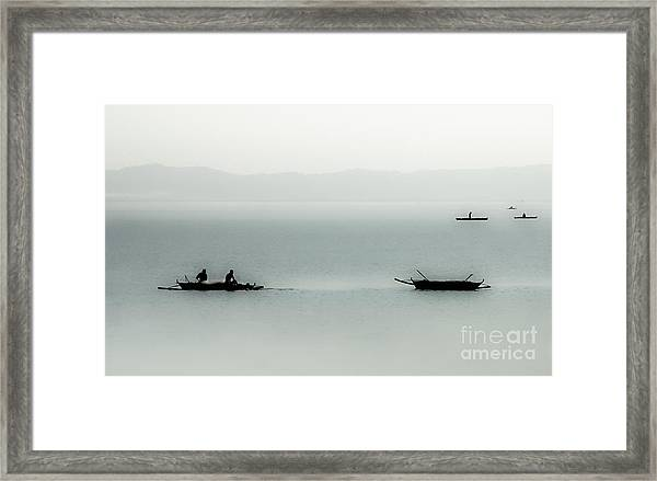 Fishing On The Philippine Sea   Framed Print