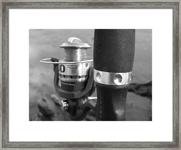 Fishing Pole Framed Print by Daralyn Spivey