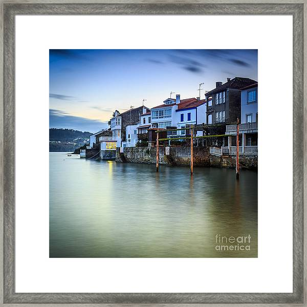 Fishing Town Of Redes Galicia Spain Framed Print