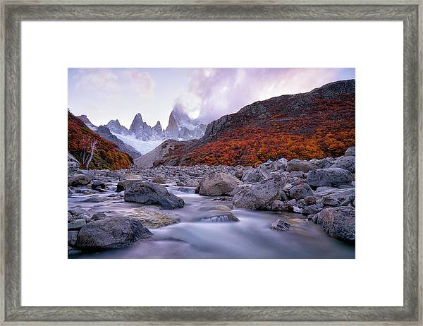 Fitz Roy Under Twilight Framed Print
