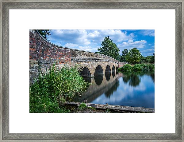 Five Arches Bridge. Framed Print
