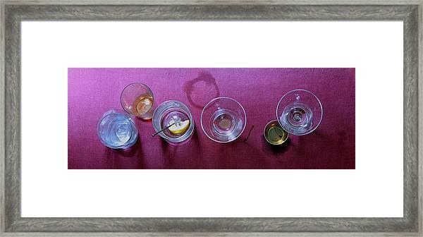 Five Cocktails Framed Print