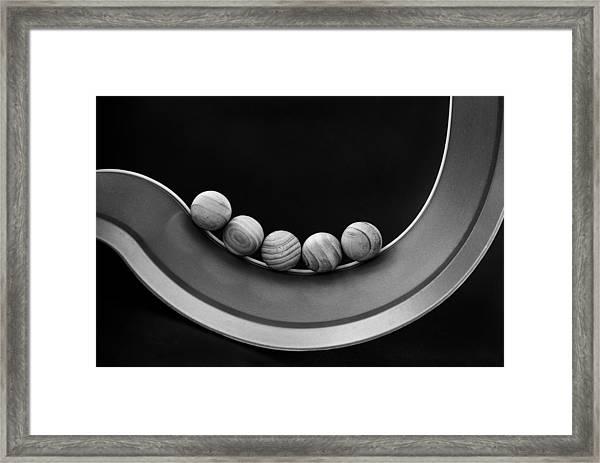 Five Framed Print