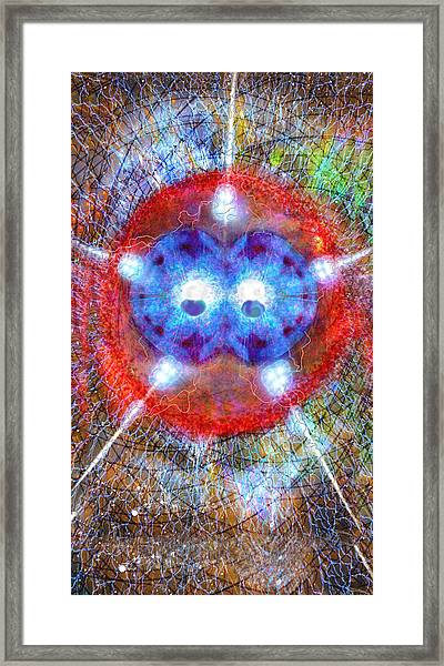 Five Of Wands/stars - Fusion - Artwork For The Science Tarot Framed Print