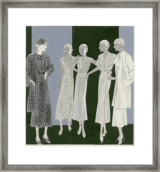 Five Women Framed Print by William Bolin