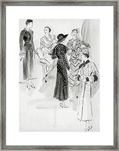 Five Women Wearing Chanel Framed Print