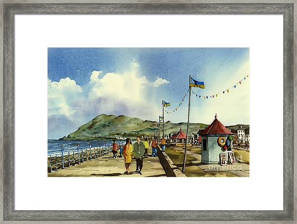 As I Walk Along The Promenade With An Independant Air  ....... Framed Print