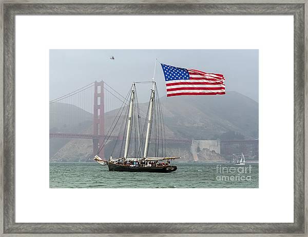 Flag Ship Framed Print