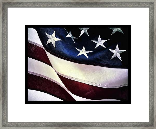 Flag Spotting At The Va Framed Print