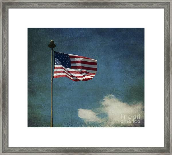 Flag - Still Standing Proud - Luther Fine Art Framed Print