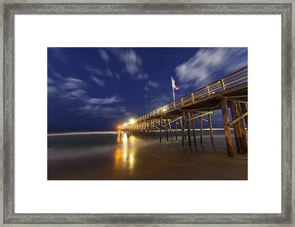 Flagler Pier Framed Print