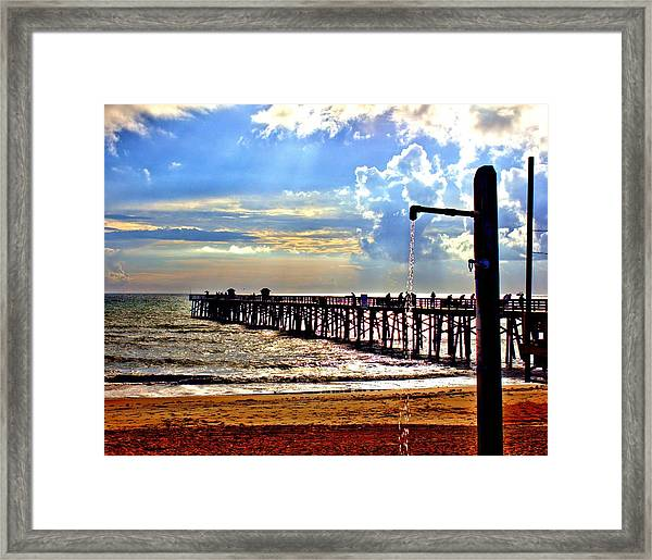 Flagler Pier Heaven Framed Print