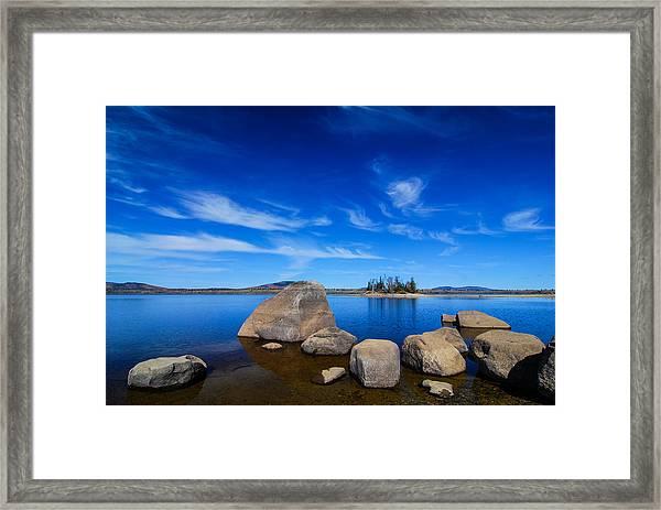 Flagstaff Lake Maine Framed Print