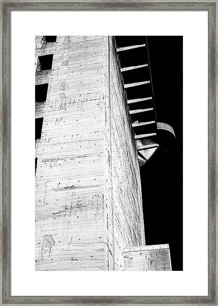 Flak Tower Vienna Side View Framed Print