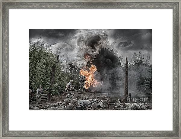 Flame Of Victory Framed Print
