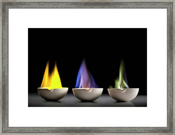 Flame Tests Framed Print