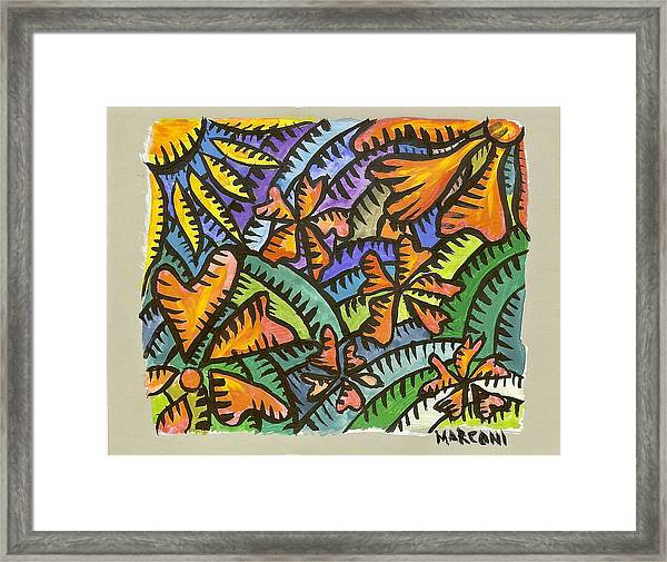Flame Tree Framed Print