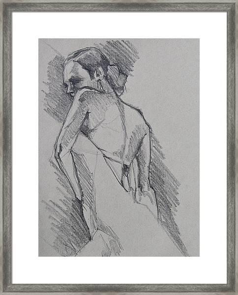 Flamenco Dancer Sketch Framed Print