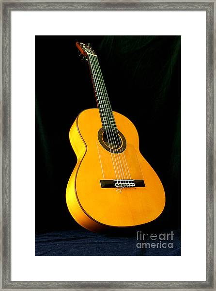 Flamenco Guitar Framed Print by Russell Christie