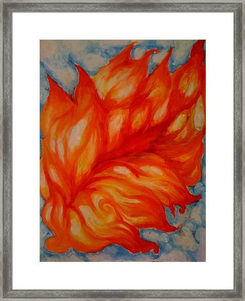 Flames Framed Print by Lydia Erickson