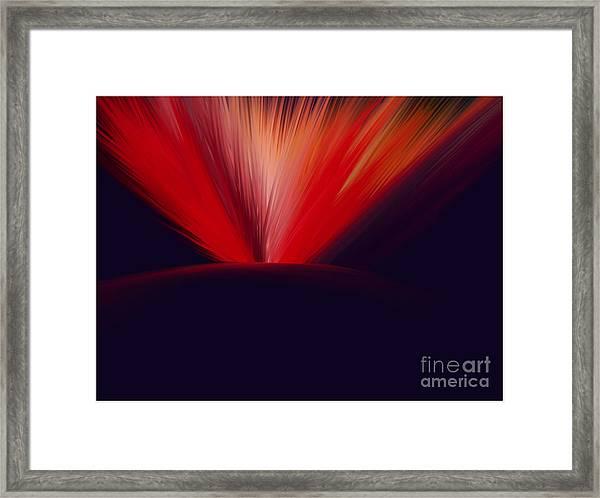 Flaming Planet Framed Print