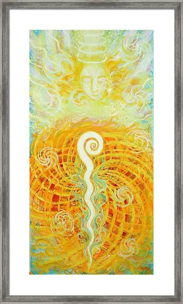 Flaming Sword Framed Print