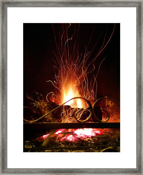 Flaming Wizard Framed Print