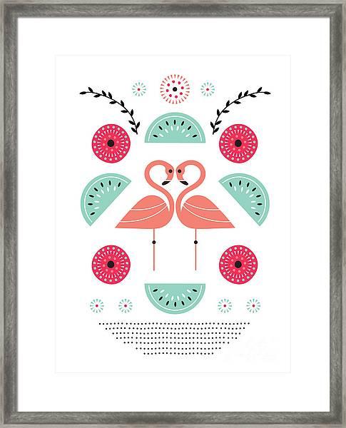 Flamingo Flutter Framed Print
