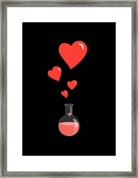 Flask Of Hearts Framed Print