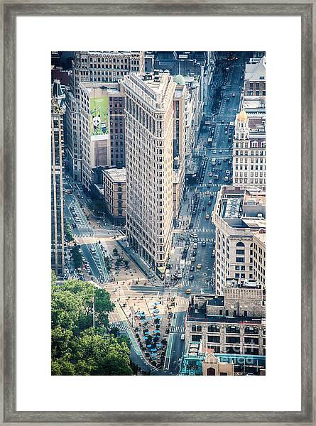 Flat Iron Building Framed Print