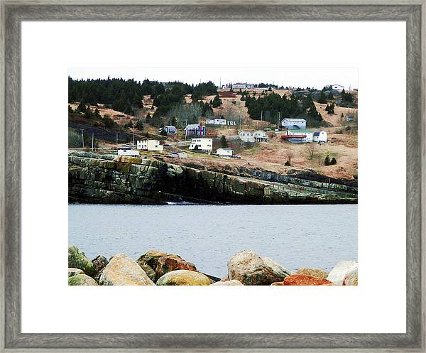Flat Rock Framed Print
