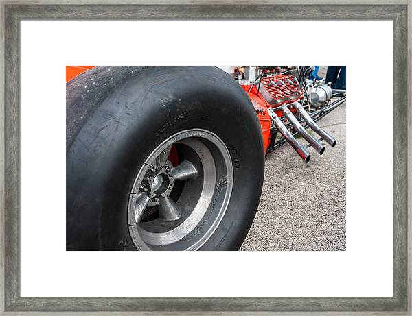 Flathead Powered Front Engine Dragster Framed Print