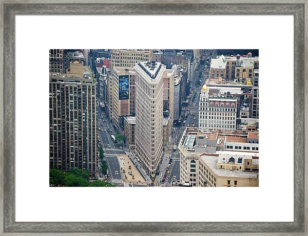 Flatiron Building From Empire State Framed Print