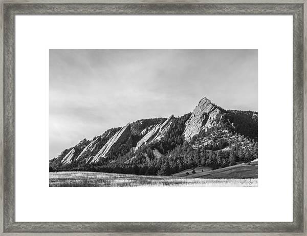 Flatirons B W Framed Print