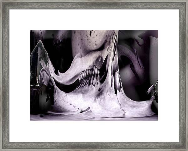 Flexify Deer Skull Framed Print