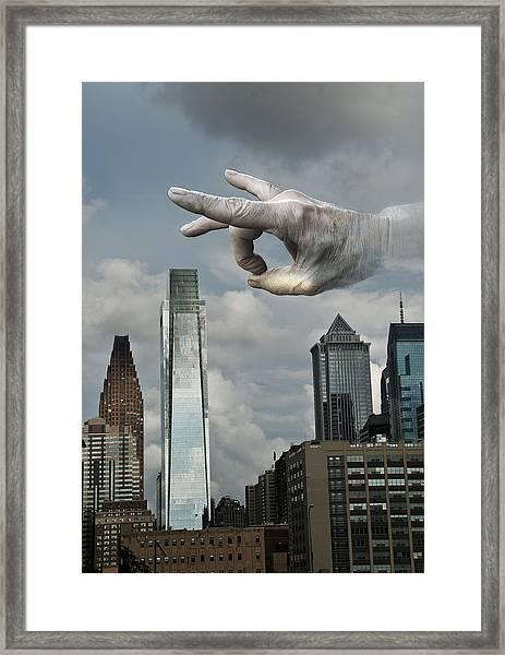 Flicking Philly Framed Print