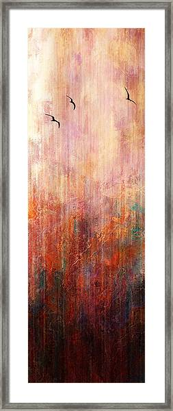 Flight Home - Abstract Art Framed Print