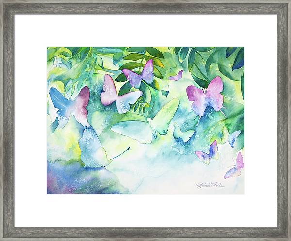 Flight Of The Butterflies Framed Print