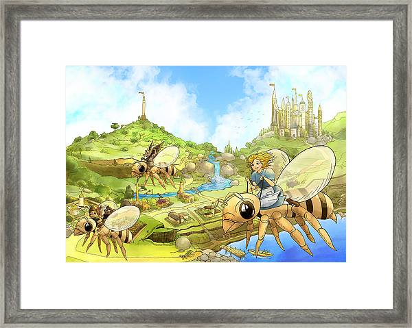 Flight Over Capira Framed Print