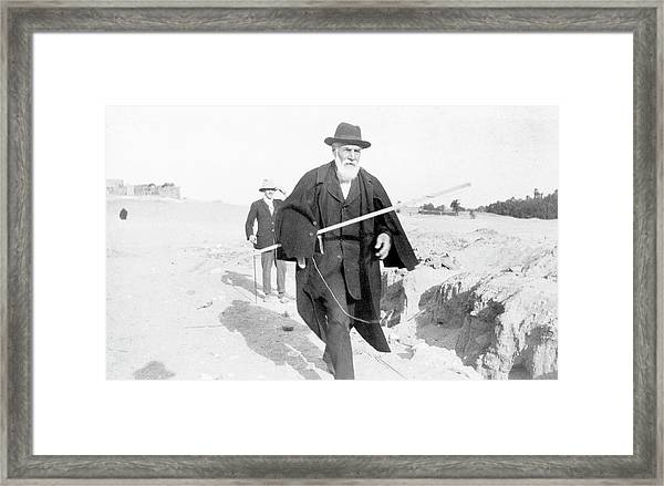 Flinders Petrie In Egypt Framed Print