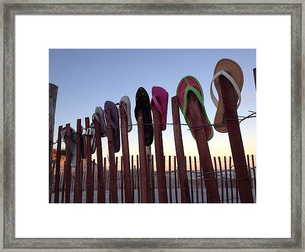 Flip Flop Lost And Found Framed Print