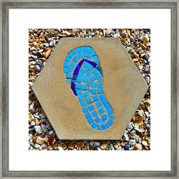 Square Flip Flop Stepping Stone Two Framed Print