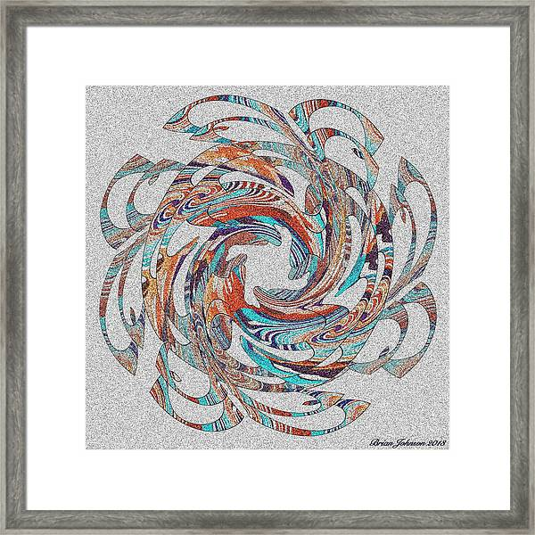 Flipin Fancy Tile 1 Framed Print