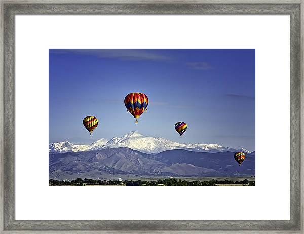 Floating Above Longs Peak Framed Print
