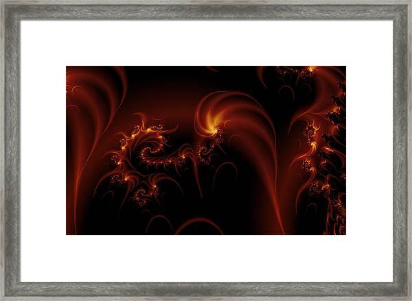 Floating Fire Fractal Framed Print