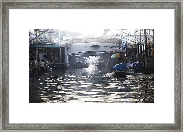 Floating Market Bangkok Framed Print