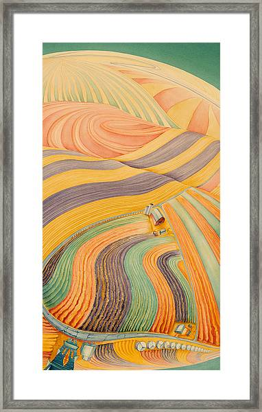 Floating Over Fields IIi Framed Print