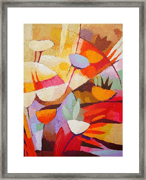 Floral Abstraction Framed Print by Lutz Baar