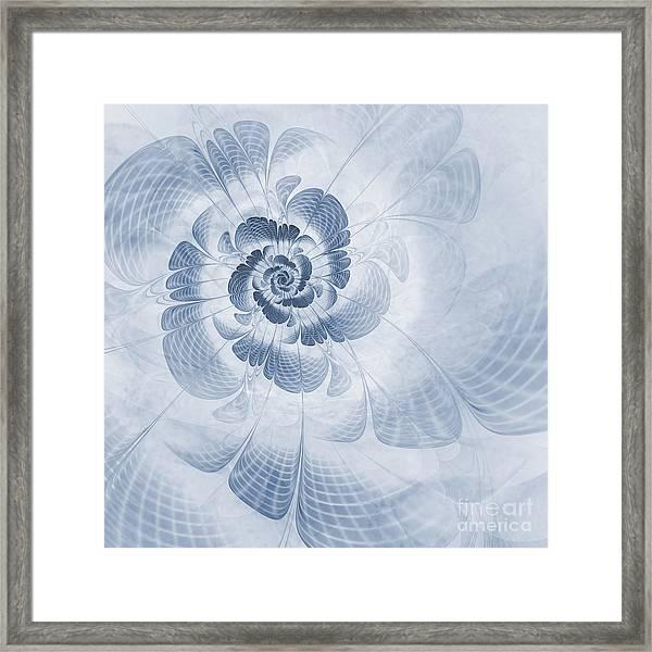 Floral Impression Cyanotype Framed Print