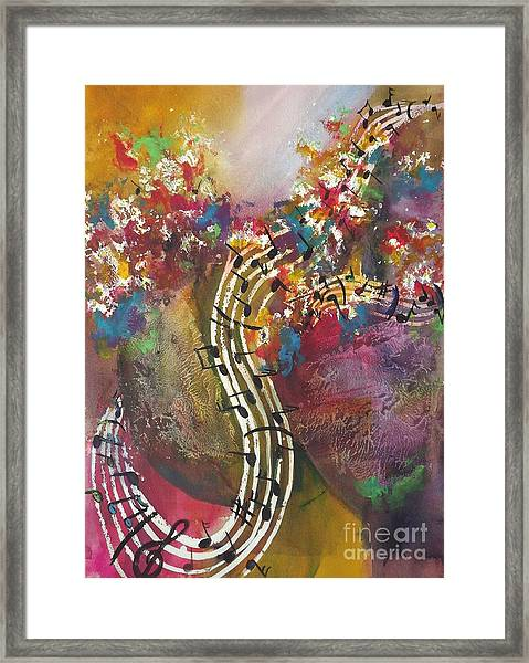 Floral Notes Framed Print